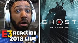 GHOSTS OF TSUSHIMA LIVE REACTION! - SONY [E3 2018]