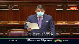 (agenzia vista) - roma, 22 ottobre 2020 il presidente del consiglio, giuseppe conte, nell'aula della camera dei deputati per un'informativa sulle ulteriori...