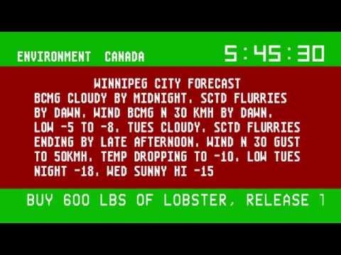 Environment Canada Smart TV App (Mock-up)