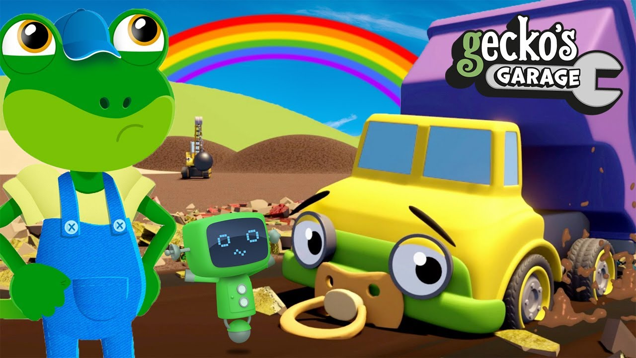 Daisy The Baby Dumper Truck's Tired Tyres!|Gecko's Garage|Truck Cartoons For Kids|Fun Education