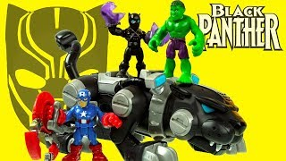 NEW BLACK PANTHER vs HULK v CAPTAIN AMERICA superhero toys unboxing