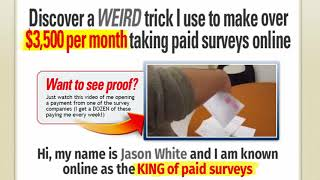 Discover a WEIRD trick I use to make over $500 per month talking paid surveys online,