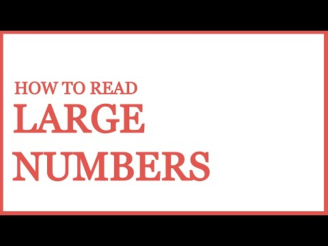 How to read large numbers | Indian Numbering System vs International Numbering System