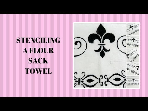 stenciling-a-flour-sack-towel-|-painting-tutorial-|-easy-painting-|-aressa1-|-2019