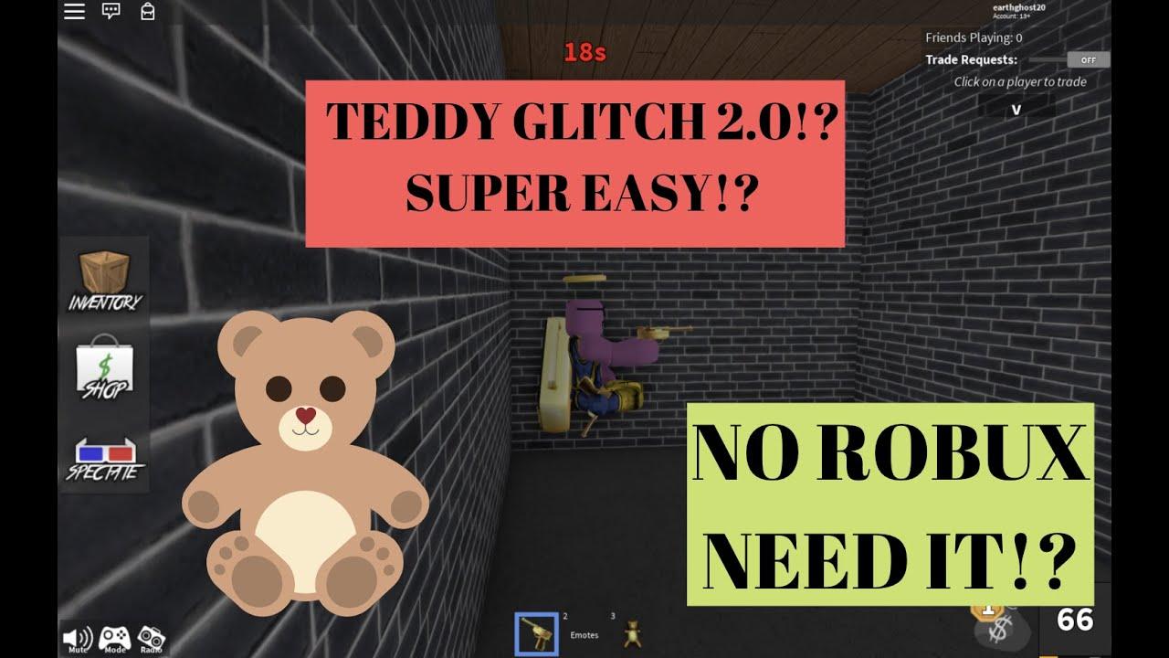 Teddy Glitch 2 0 Brand New Way To Spam Murder Mystery2 Youtube