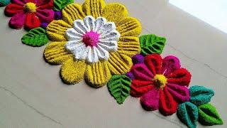 Diwali special/Dhanteras border rangoli banye apne ghar