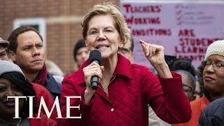 Senator Elizabeth Warren Joins And Shows Support For Striking Teachers In Chicago | TIME