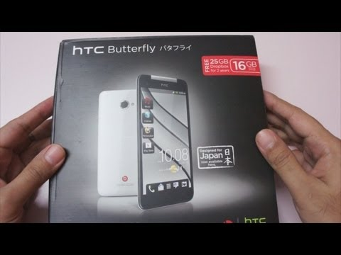 HTC Butterfly Unboxing & Overview
