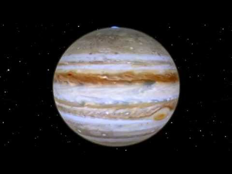 A trip around Jupiter and its four largest moons....