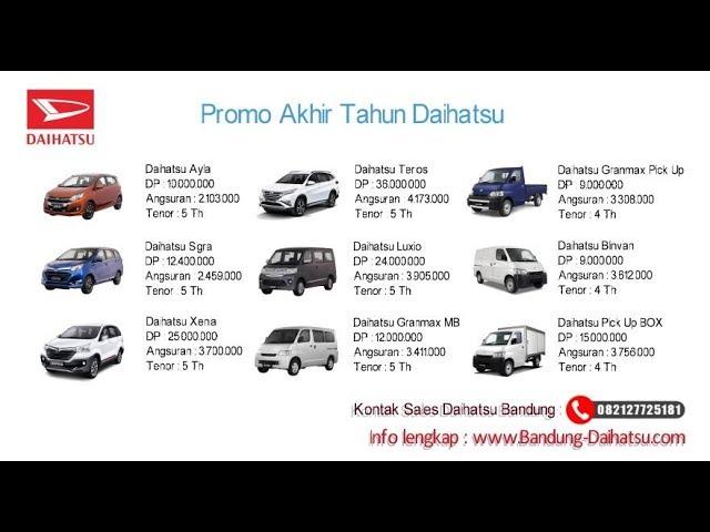 Promo Daihatsu Akhir Tahun - Daihatsu Bandung | 082127725181
