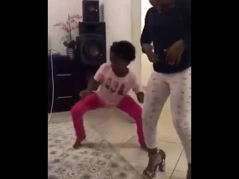 3 little girls dancing to babes wodumo's song