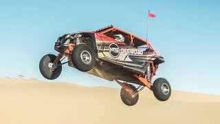 Can-am X3 RS Max Shreds Glamis with New Agency Power Valved Slip-on Muffler!