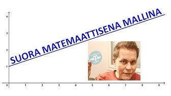 Suora matemaattisena mallina