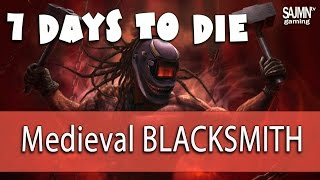 Building Basic Medieval Blacksmith in 7 Days to Die - Zombie Horde Crafting game