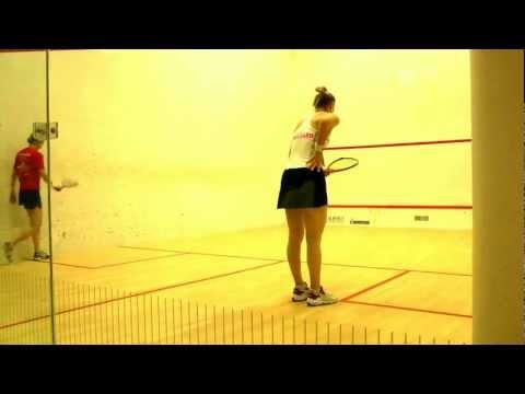 PSL squash final 2012 - Alison Waters and Laura Massaro + Joe Lee and Adrian Waller