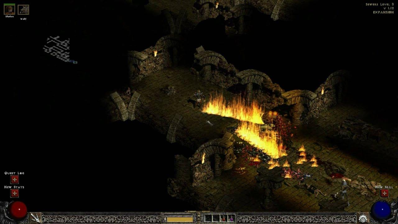 Diablo 2 LOD - Act II Sewers - Widescreen