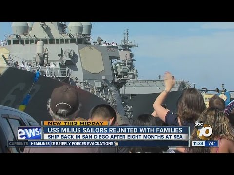 USS Milius returns to San Diego