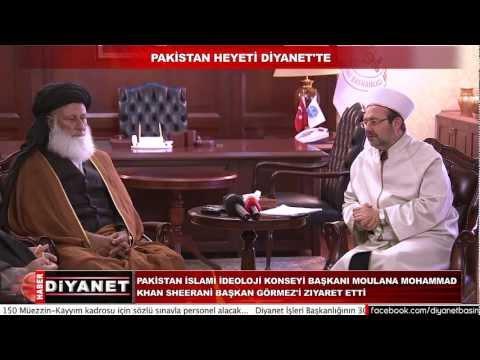 Pakistan heyetinden Diyanet İşleri Başkanı Görmez'e ziyaret