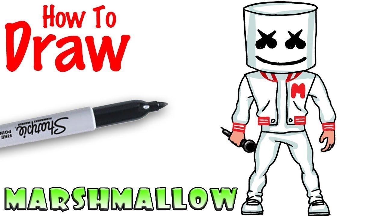 How to Draw Marshmello #1