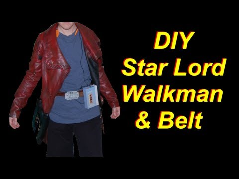 diy star lord costume holster belt and walkman youtube