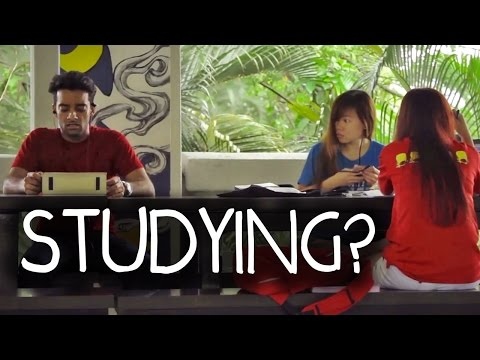 Students Studying PRANK in Singapore!!