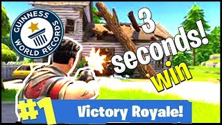*NIEUW* Wereld Record - Victory Royale In 3 Seconden😱 - Fortnite: Battle Royale