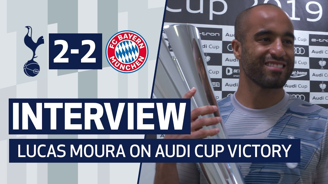 Interview Lucas Moura On Audi Cup Victory Over Bayern Munich Youtube