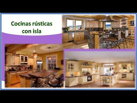 COCINAS RUSTICAS Con Isla ✔✔✔