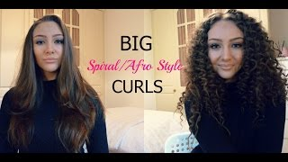 How to: Get Spiral/Afro Style Curls