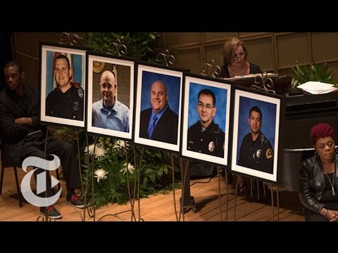 Memorial Service For Dallas Officers | The New York Times