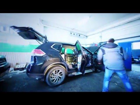 Полная шумо виброизоляция монтаж Hi Fi акустики на Nissan X Trail 2015
