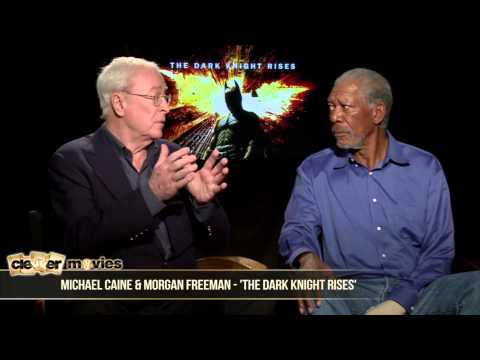 Michael Caine & Morgan Freeman Talk 'The Dark Knight Rises'