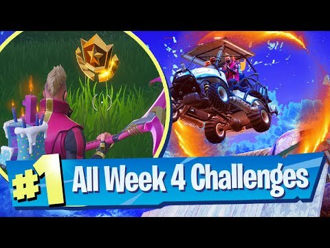Fortnite SEASON 5 WEEK 4 Challenges Guide (Flaming Hoops + Flush Factory Chests)