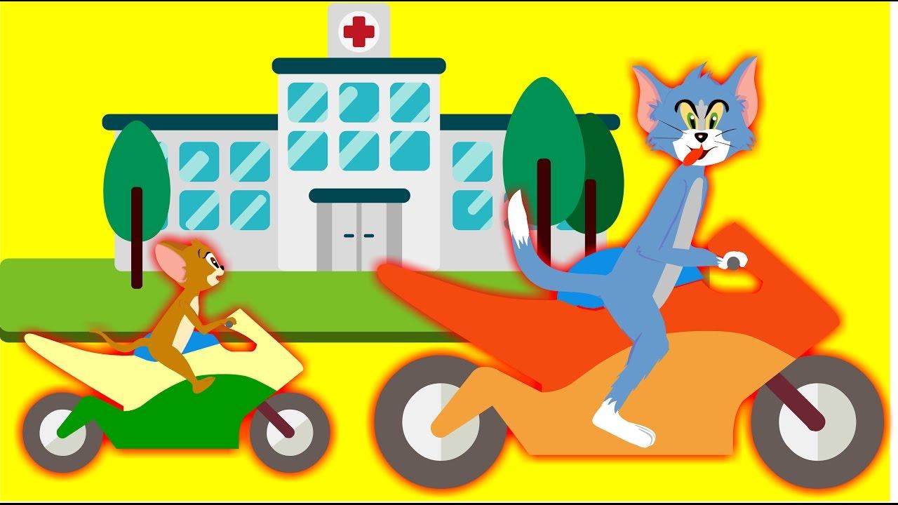 Tom And Jerry Car Crash Ride Bike Disney Cars Funny New Episode Tom Jerry Cartoon For Children