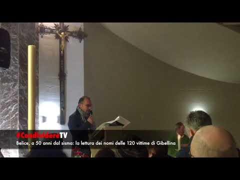 #CondividereTV: in chiesa i 120 nomi dei gibellinesi morti nel sisma 1968