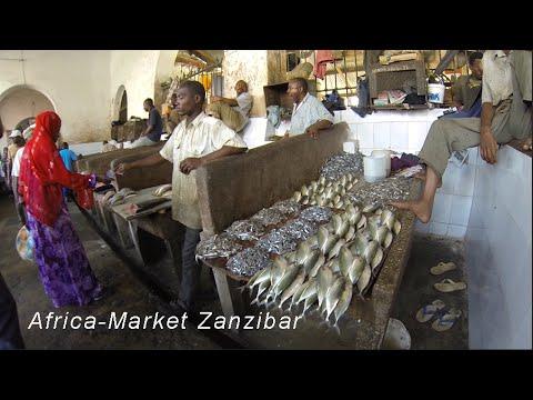 Africa Market in Stonetown, Zanzibar TZ