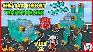 Cách làm robot transformer siêu ngầu giống hệt trên tiktok mini world