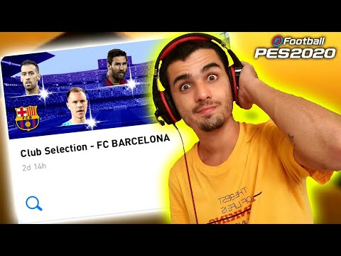 Fui em busca do Messi- Club Selection - FC BARCELONA- PES 2020 MOBILE - 동영상