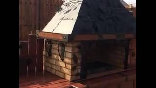 Модульная печь - барбекю. Видео 100loft.ru