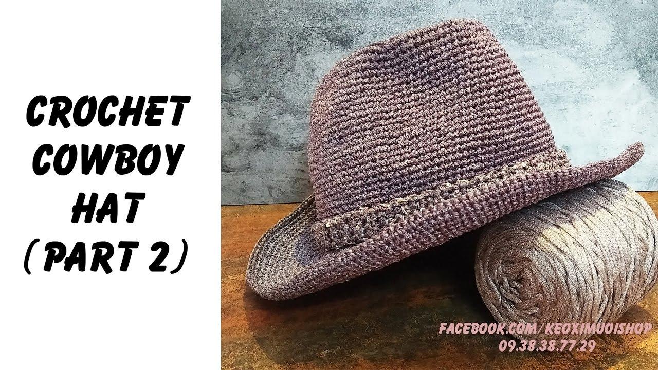 cowboy hat crochet sombrero vaquero pattern # 19