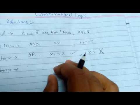 Combinational Logic Introduction & Basic Definitions