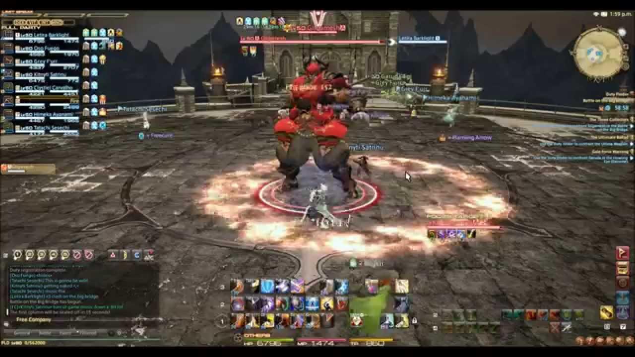 ffxiv a realm reborn battle on the big bridge gilgamesh battle