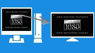 Как подсоединить свой компьютер к телевизору для просмотра FULL HD фильмов(В этом видео я вам покажу как смотреть фильмы из интернета с высоким разрешением на своем телевизоре подклю..., 2015-08-18T11:07:02.000Z)