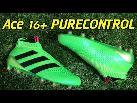 e62404c16345 Laceless Adidas ACE 16+ PURECONTROL Solar Green - Review + On Feet - YouTube