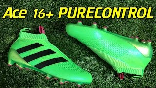 laceless adidas ace 16 purecontrol solar green review on feet