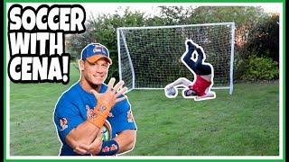 PLAYING SOCCER FOOTBALL WITH WWE LEGEND JOHN CENA!!! skit | Summer 2018 Fun & Games