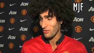 Marouane Fellaini First Ever Interview As A Manchester United Player 2013
