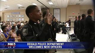 DeKalb County Police Department welcomes new officers