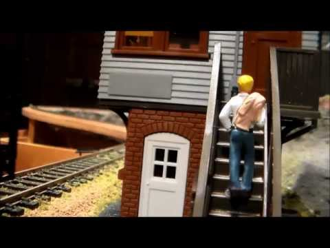 Running the HO scale layout with new gp18 and hopper set