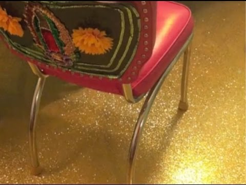 How To Glitter A Floor || DIY Project